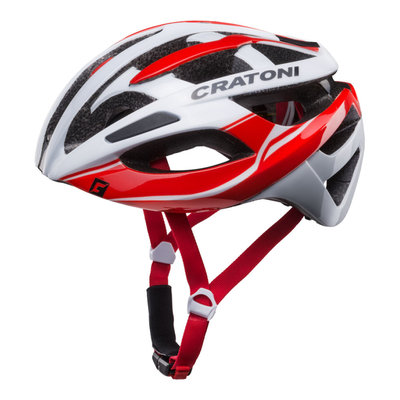 racefiets helm - Cratoni C-Breeze Wit-Rood - zeer goed geteste wielrenhelm!
