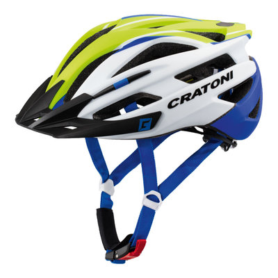 Mtb helm - Cratoni Agravic Wit - Groen - lichte & sportieve mountainbike helm