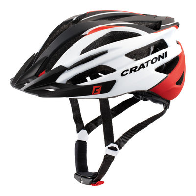 Mtb helm - Cratoni Agravic wit - rood - lichte & sportieve mountainbike helm
