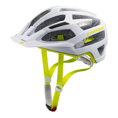 Mtb helm Dames - Cratoni C-Flash Wit Groen - goede fiets helm in mtb helm test