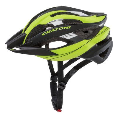 Mtb helm - Cratoni C-Tracer Zwart Groen - zeer goede fietshelm in mtb helm test