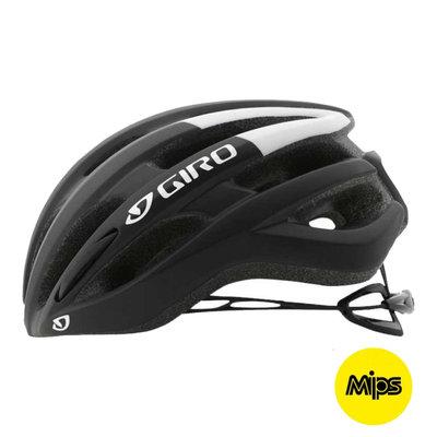 Giro Foray Mips Zwart-Wit - Racefiets Helm - zeer populaire & lichte giro fietshelm