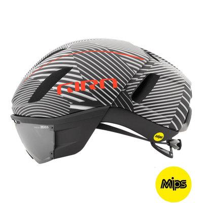 Giro Vanquish Mips Wit Zwart - Racefiets helm - Giro Fietshelm met Vizier Zeiss