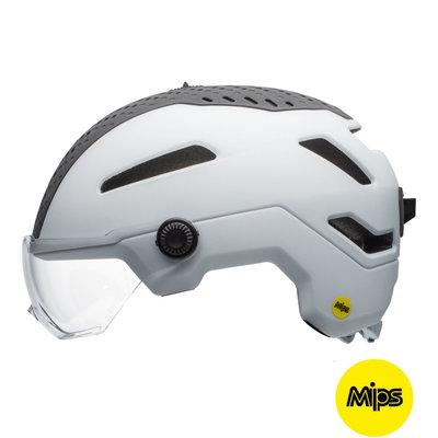 Bell Annex Shield Mips Wit - E- bike helm - Bell Fietshelm met Vizier en Verlichting