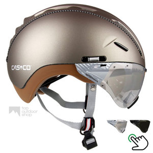 casco roadster olive e bike helm met vizier carbonic 04.5016.U of 04.5015.U