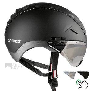 casco roadster zwart e bike helm met vizier carbonic 04.5016.U of 04.5015.U