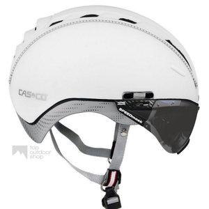 casco roadster wit e bike helm met vizier 04.5026.U