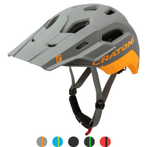 cratoni c maniac 2.0 trail grey-orange mtb helm - nieuwe mountainbike helm
