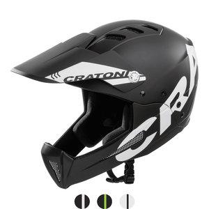 cratoni shakedown black matt mtb helm full face - nieuwe mountainbike helm
