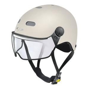 cp270710_cp carachillo e bike helm creme-wit - beste fietshelm met vizier voor brildragers