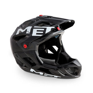 MET parachute mtb helm met kinbugel anthracite black zwart