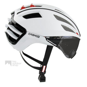 casco speedairo wit race fiets helm met vizier anti scratch carbonic 04.5026