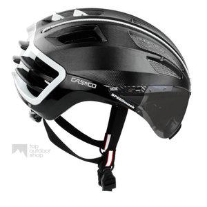 casco speedairo 2 zwart race fiets helm met vizier anti scratch carbonic 04.50.26.U