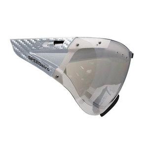 5016 Casco speedmask - casco helm vizier carbonic helder-zilver - voor casco roadster -casco speedairo -casco speedster tc plus
