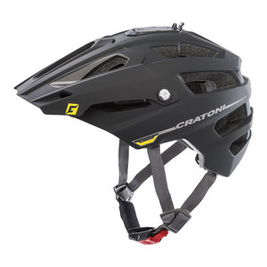 mtb helm Cratoni alltrack zwart - mountain bike helm met go pro port