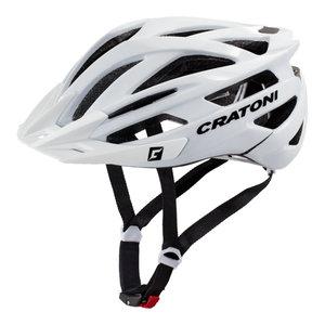 mtb helm Cratoni tracer wit glimmend - prima mountainbike helm