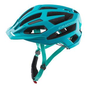 mtb helm dames Cratoni flash blauw - prima mountainbike helm dames in mtb test