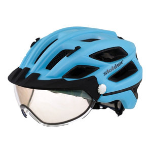 slokker penegal blauw kopen - fietshelm - mtb helm - racefiets helm - fietshelm met vizier - e bike helm