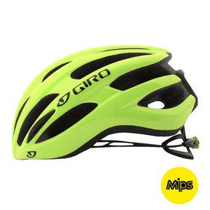 Fietshelm Giro Foray MIPS - Racefiets helm - geel kopen online