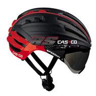 Casco helm Speedairo RS zwart rood - beste fietshelm met vizier kopen fietshelm racefiets