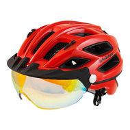 slokker penegal fietshelm met vizier rood kopen - fietshelm - mtb helm - racefiets helm - fietshelm met vizier - e bike helm