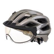 slokker penegal grijs titan kopen - fietshelm - mtb helm - racefiets helm - fietshelm met vizier - e bike helm