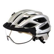 slokker penegal zilver kopen - fietshelm - mtb helm - racefiets helm - fietshelm met vizier - e bike helm