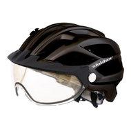 slokker penegal zwart kopen - fietshelm - mtb helm - racefiets helm - fietshelm met vizier - e bike helm