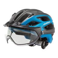slokker penegal blauw carbon kopen - fietshelm - mtb helm - racefiets helm - fietshelm met vizier - e bike helm