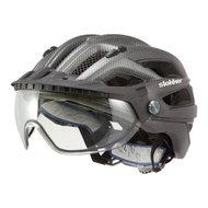slokker penegal zwart carbon kopen - fietshelm - mtb helm - racefiets helm - fietshelm met vizier - e bike helm