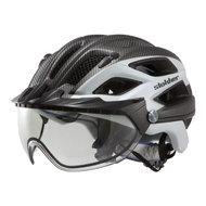 slokker penegal wit carbon kopen - fietshelm - mtb helm - racefiets helm - fietshelm met vizier - e bike helm